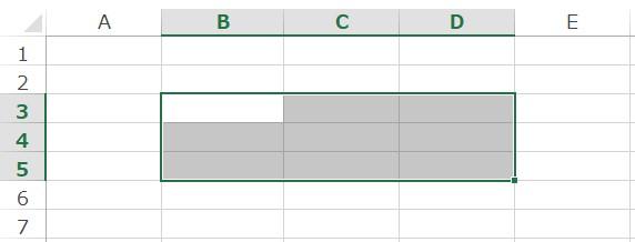 外枠罫線ショートカット例1